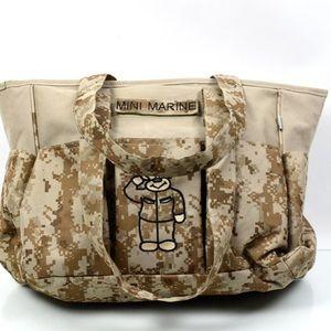 Trooper Mini Marine Diaper Bag with Changing Pad